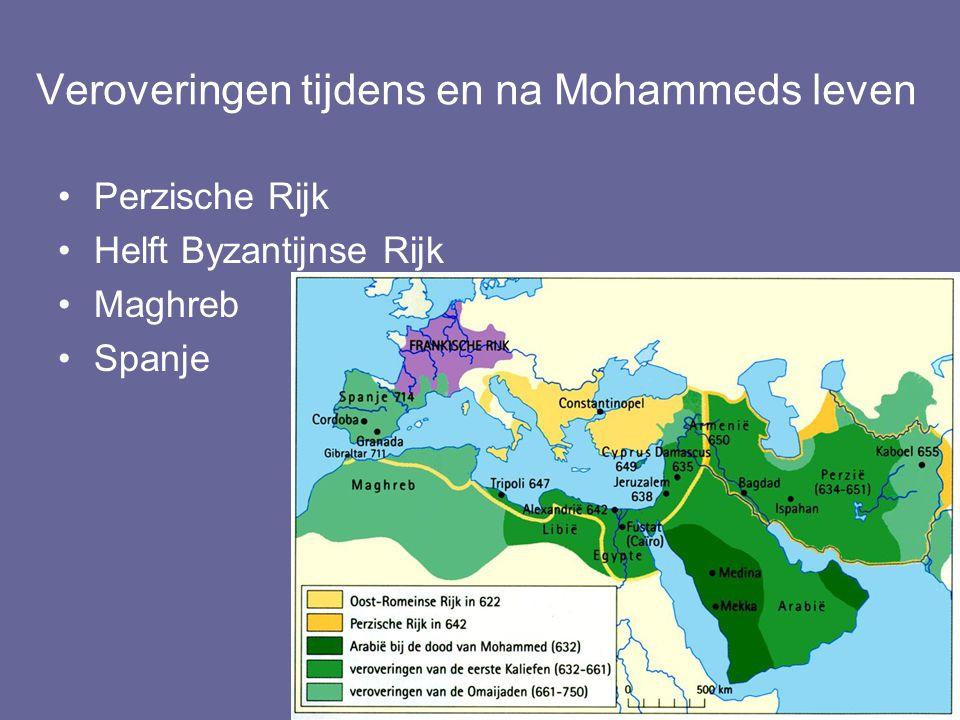 Veroveringen tijdens en na Mohammeds leven