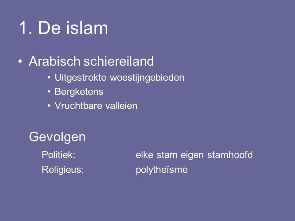 1. De islam Arabisch schiereiland Gevolgen
