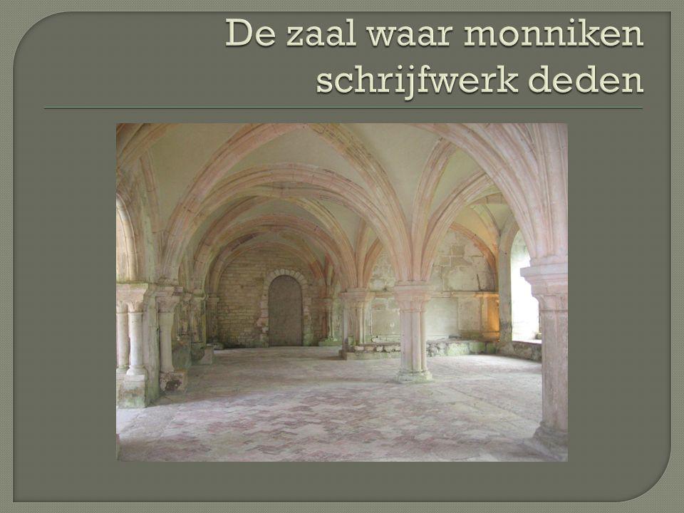 De zaal waar monniken schrijfwerk deden