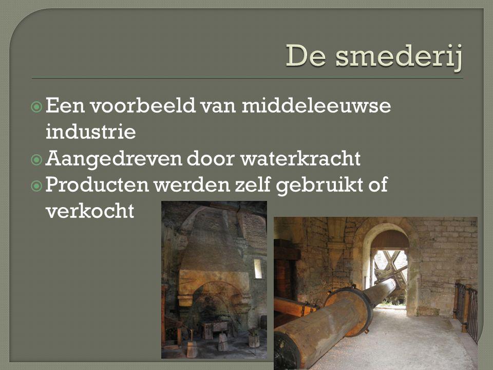 De smederij Een voorbeeld van middeleeuwse industrie