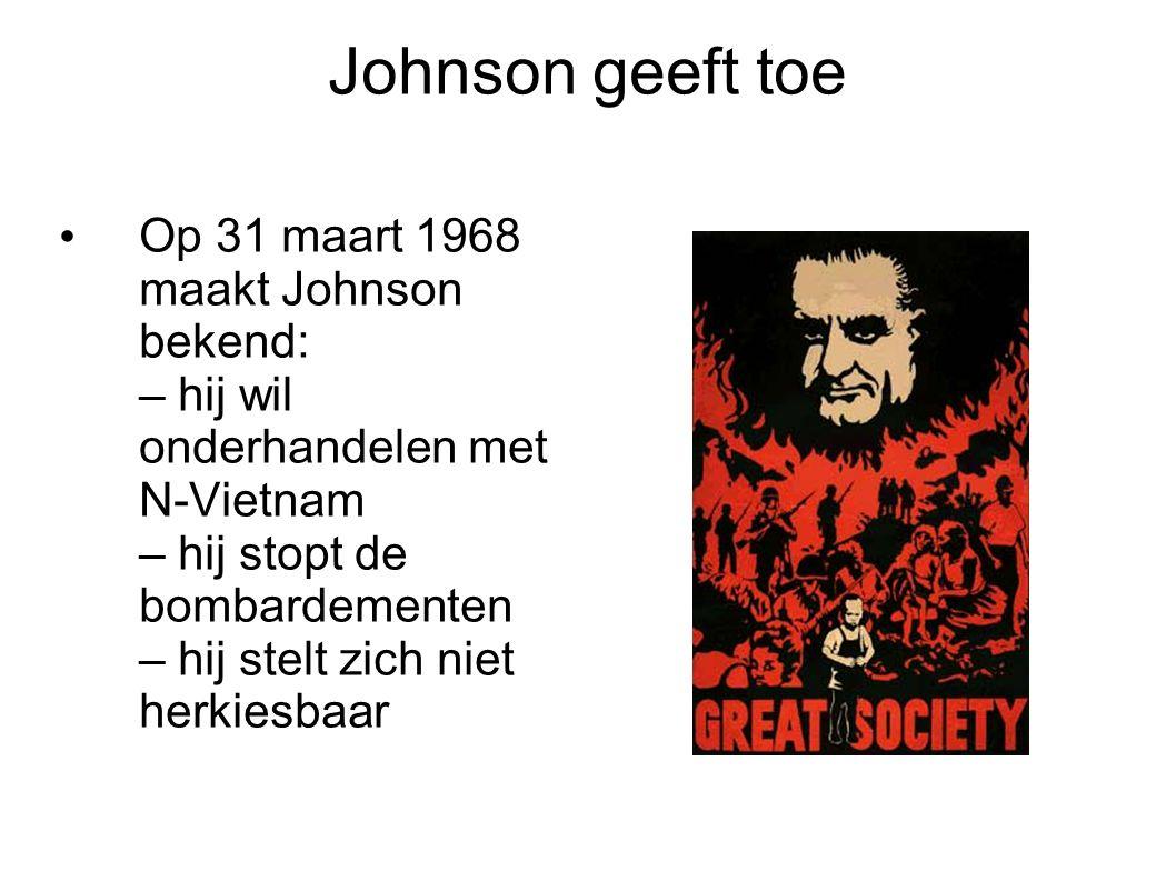Johnson geeft toe