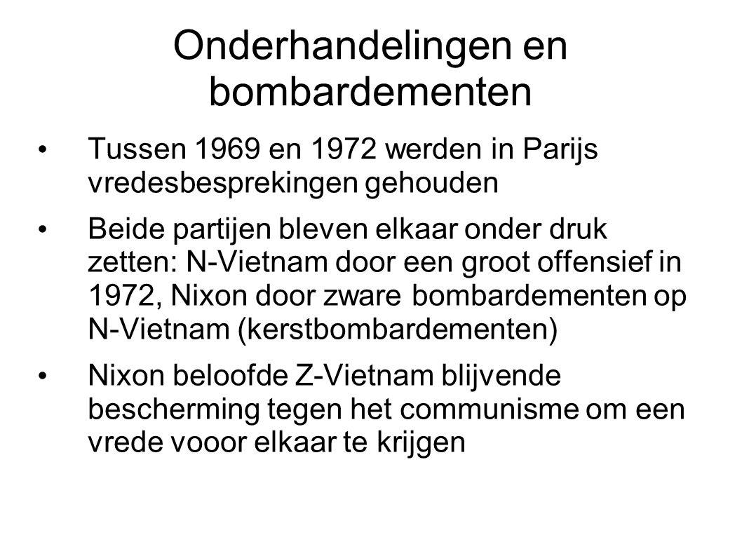 Onderhandelingen en bombardementen