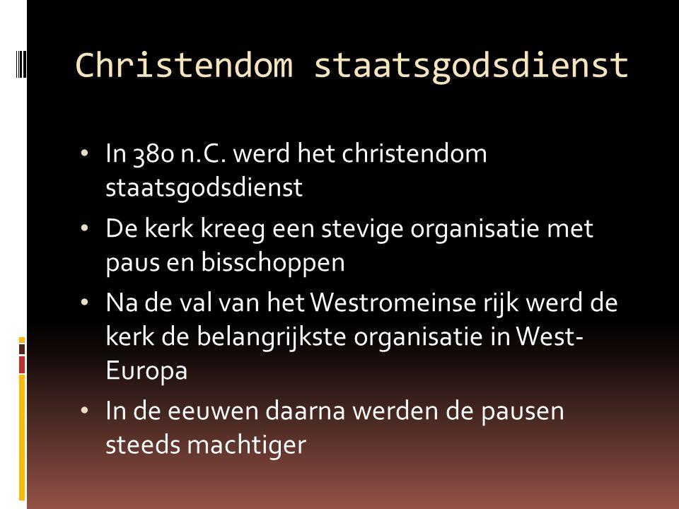 Christendom staatsgodsdienst