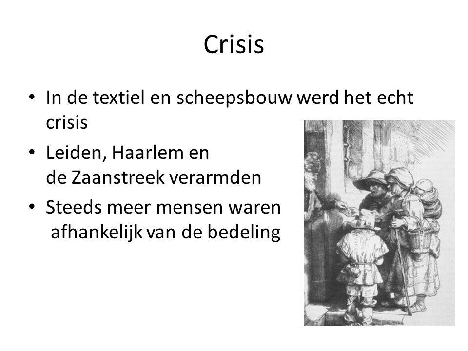 Crisis In de textiel en scheepsbouw werd het echt crisis