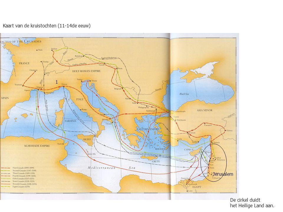 Kaart van de kruistochten (11-14de eeuw)