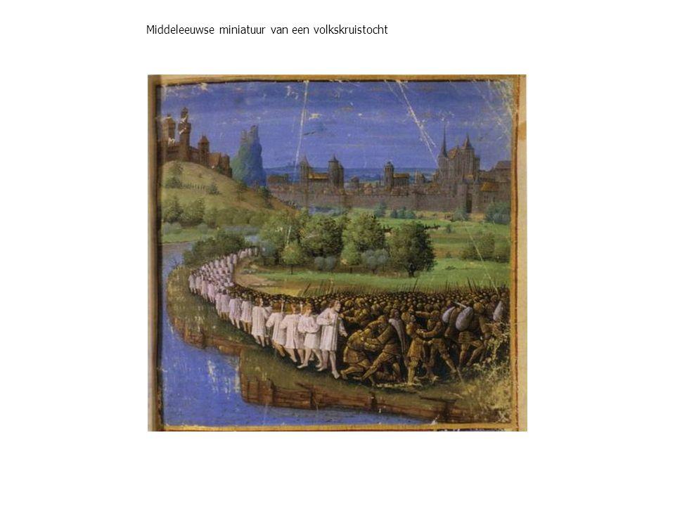 Middeleeuwse miniatuur van een volkskruistocht