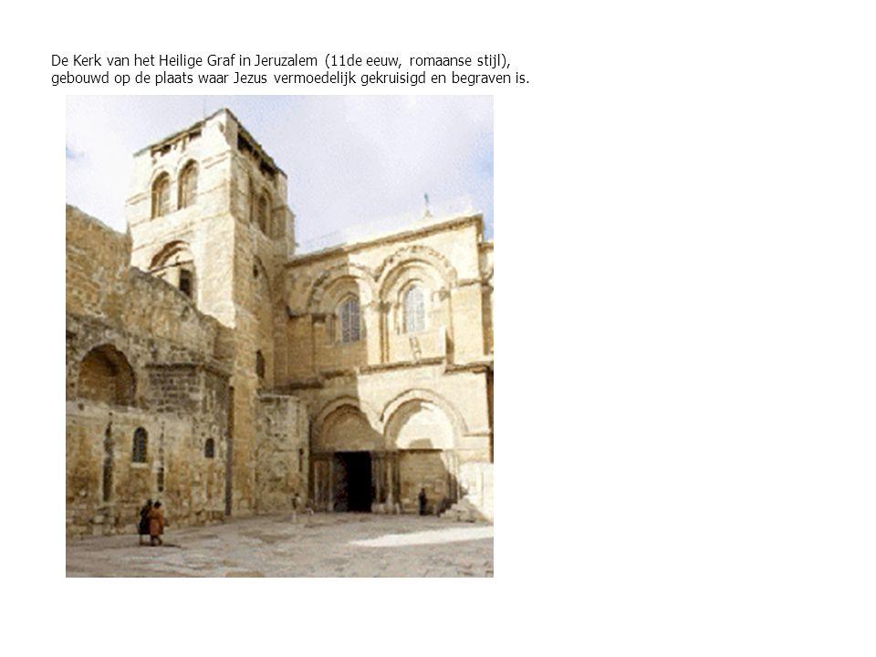 De Kerk van het Heilige Graf in Jeruzalem (11de eeuw, romaanse stijl),