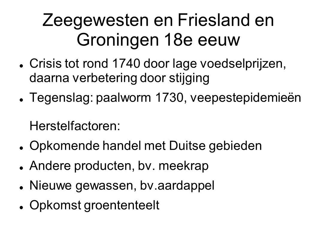 Zeegewesten en Friesland en Groningen 18e eeuw