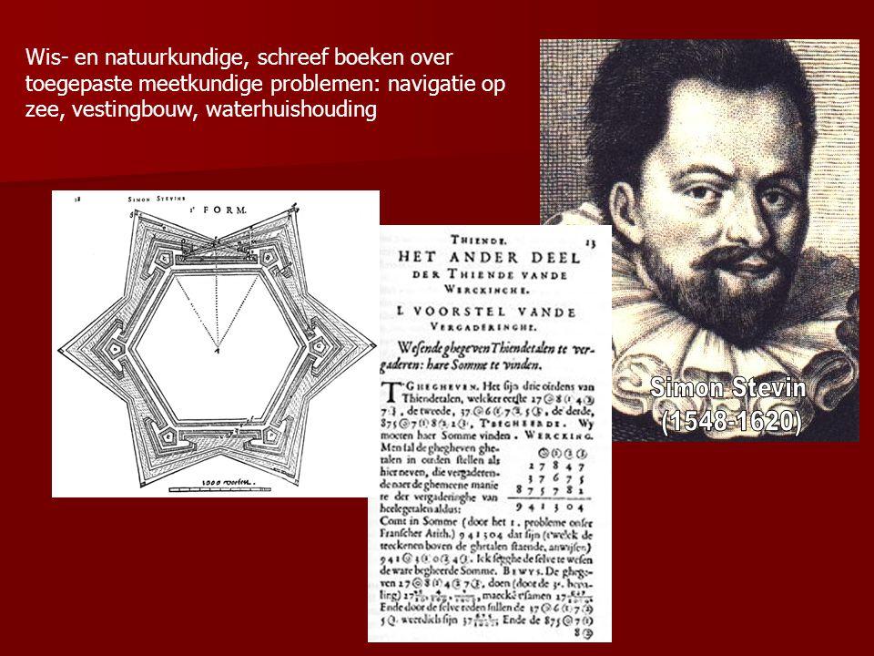 Wis- en natuurkundige, schreef boeken over toegepaste meetkundige problemen: navigatie op zee, vestingbouw, waterhuishouding