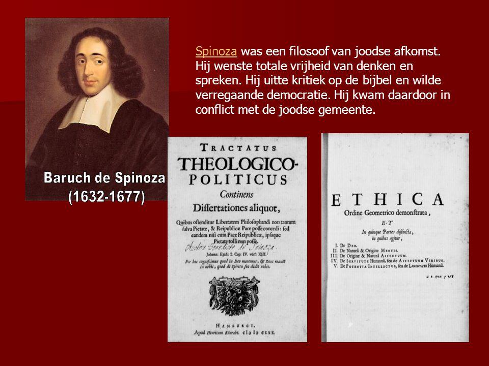 Spinoza was een filosoof van joodse afkomst
