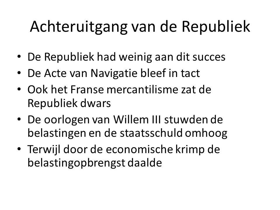 Achteruitgang van de Republiek