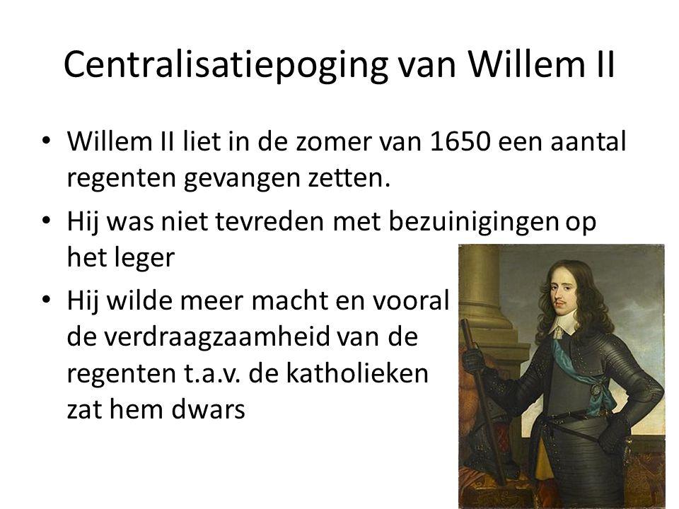 Centralisatiepoging van Willem II