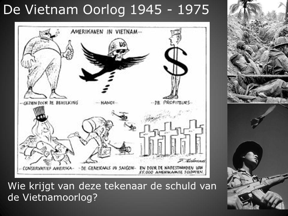 De Vietnam Oorlog 1945 - 1975 Wie krijgt van deze tekenaar de schuld van de Vietnamoorlog