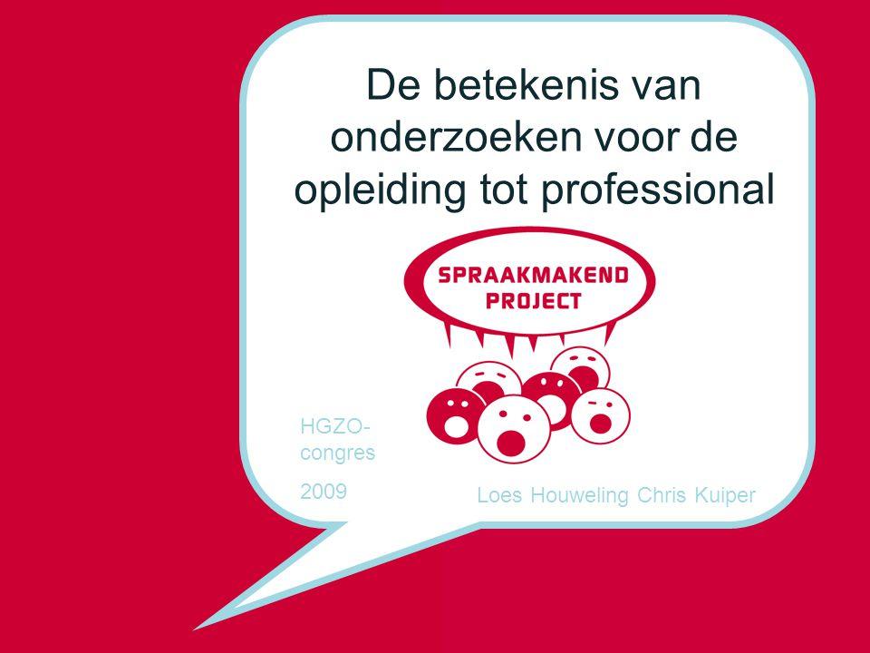 De betekenis van onderzoeken voor de opleiding tot professional