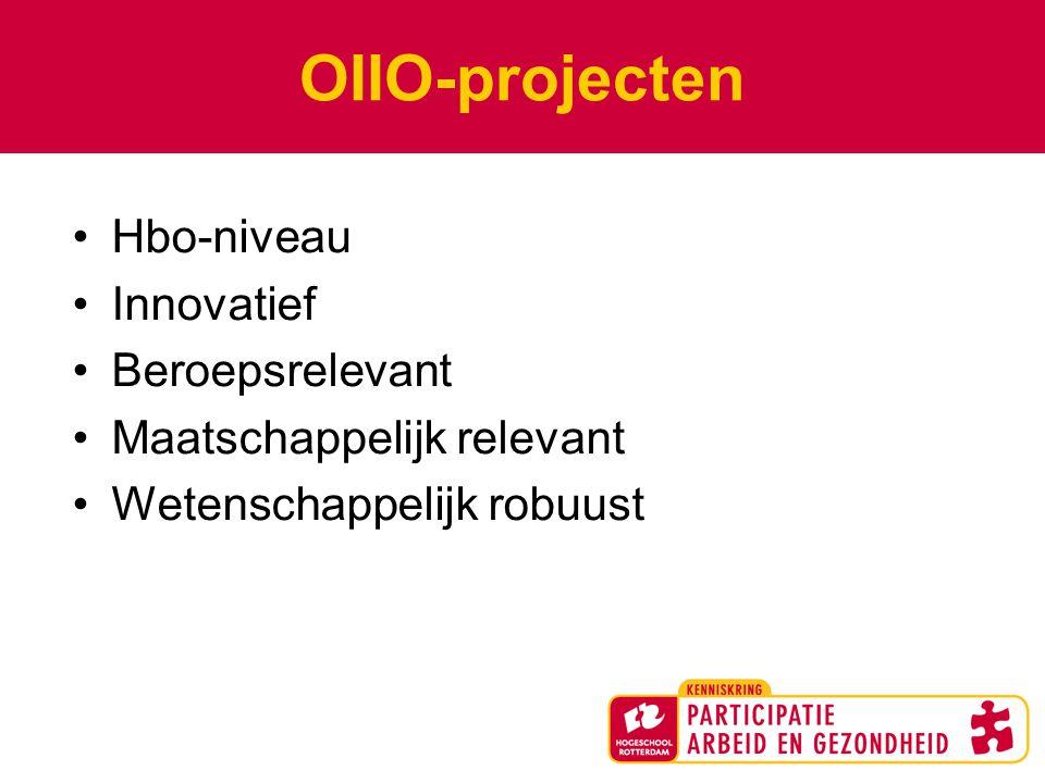 OIIO-projecten Hbo-niveau Innovatief Beroepsrelevant