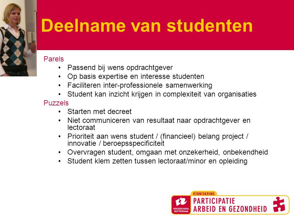 Deelname van studenten