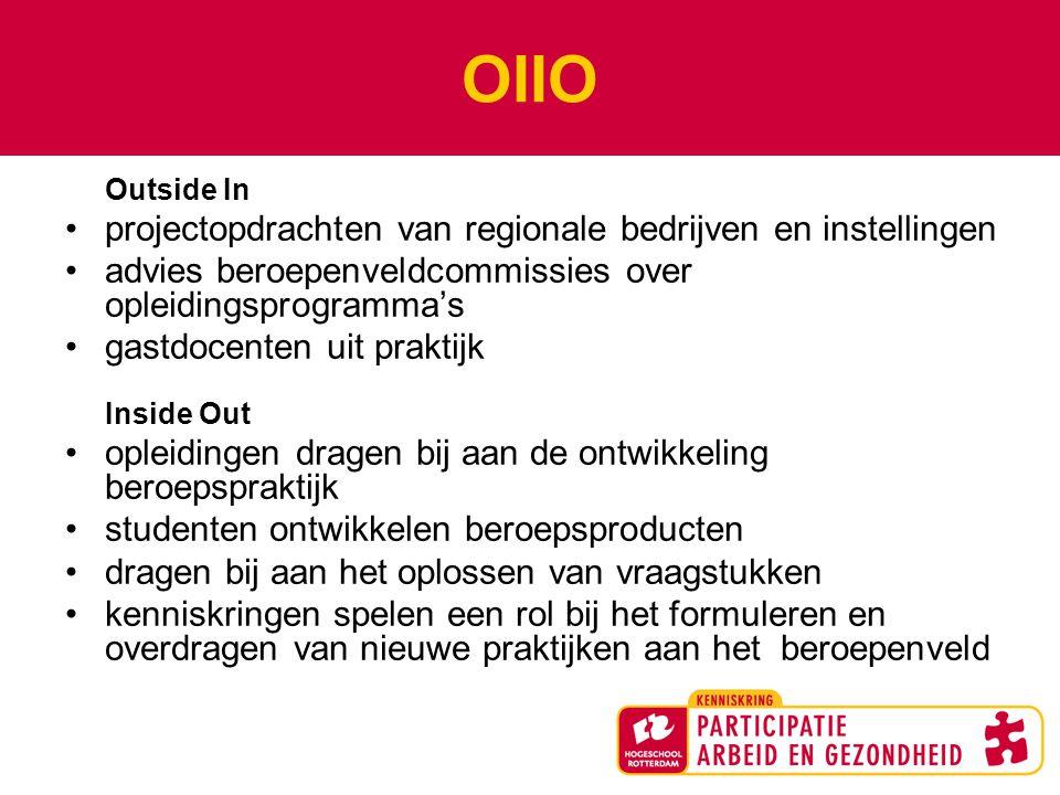 OIIO projectopdrachten van regionale bedrijven en instellingen