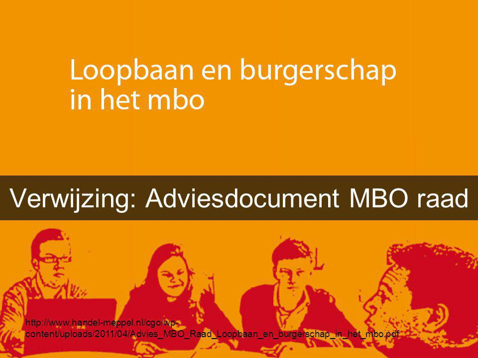 Verwijzing: Adviesdocument MBO raad