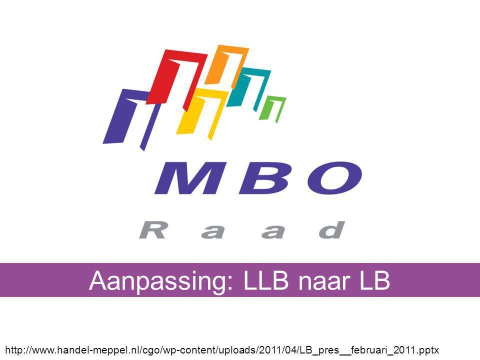 Aanpassing: LLB naar LB