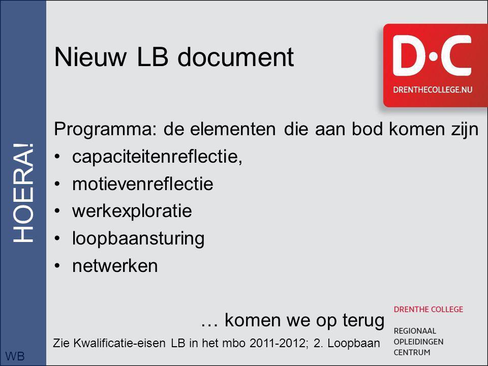 Nieuw LB document HOERA!