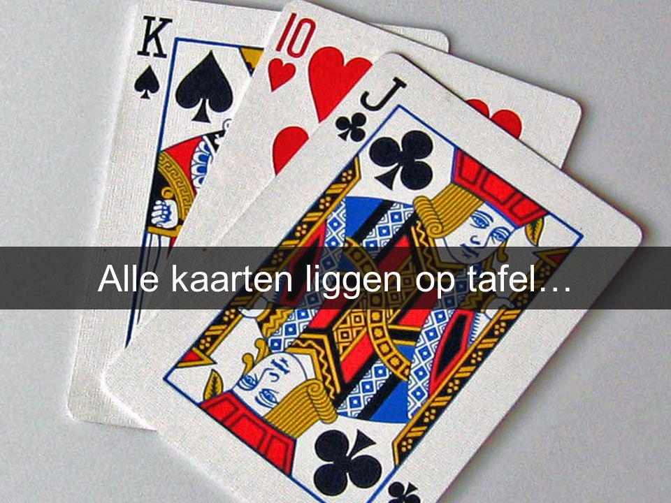 Alle kaarten liggen op tafel…