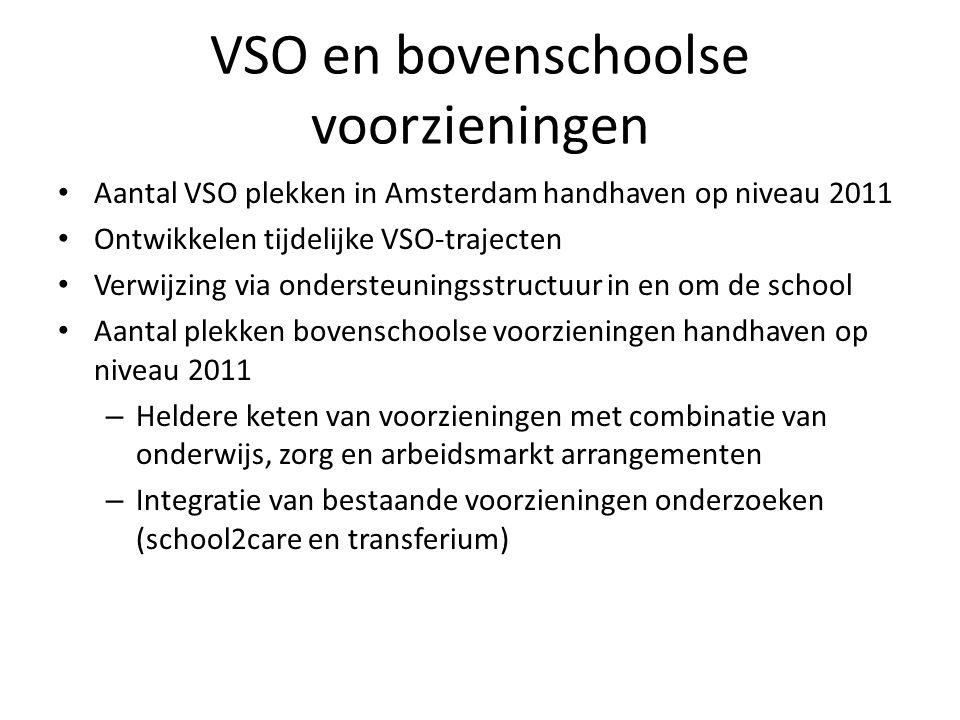 VSO en bovenschoolse voorzieningen