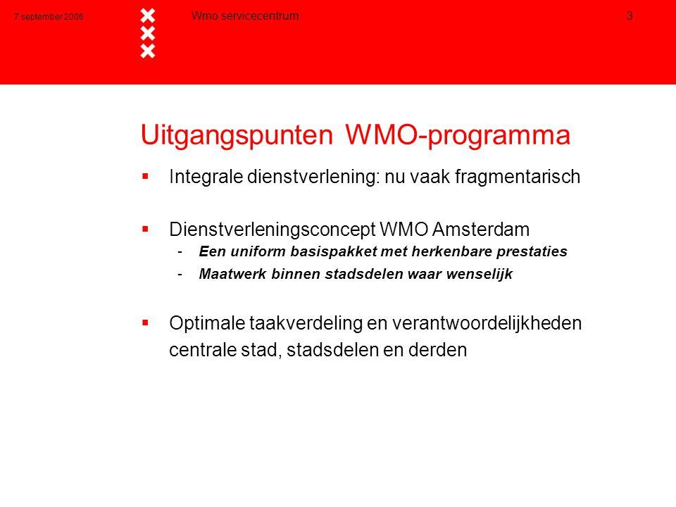 Uitgangspunten WMO-programma