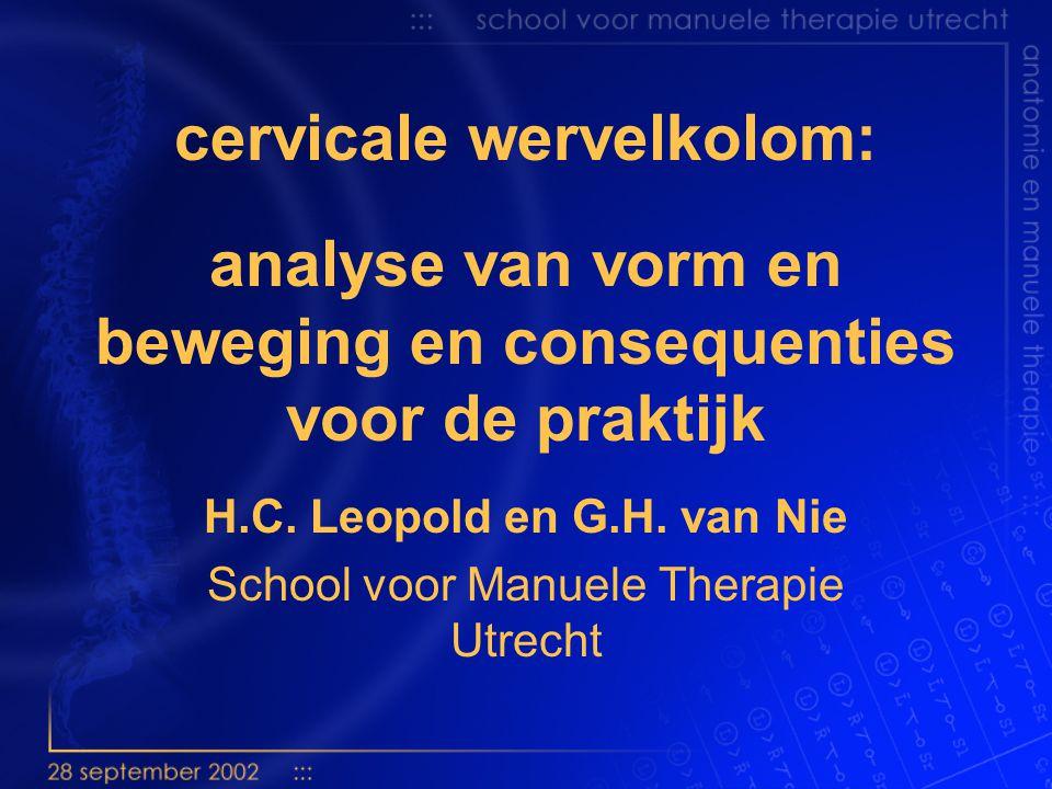 H.C. Leopold en G.H. van Nie School voor Manuele Therapie Utrecht