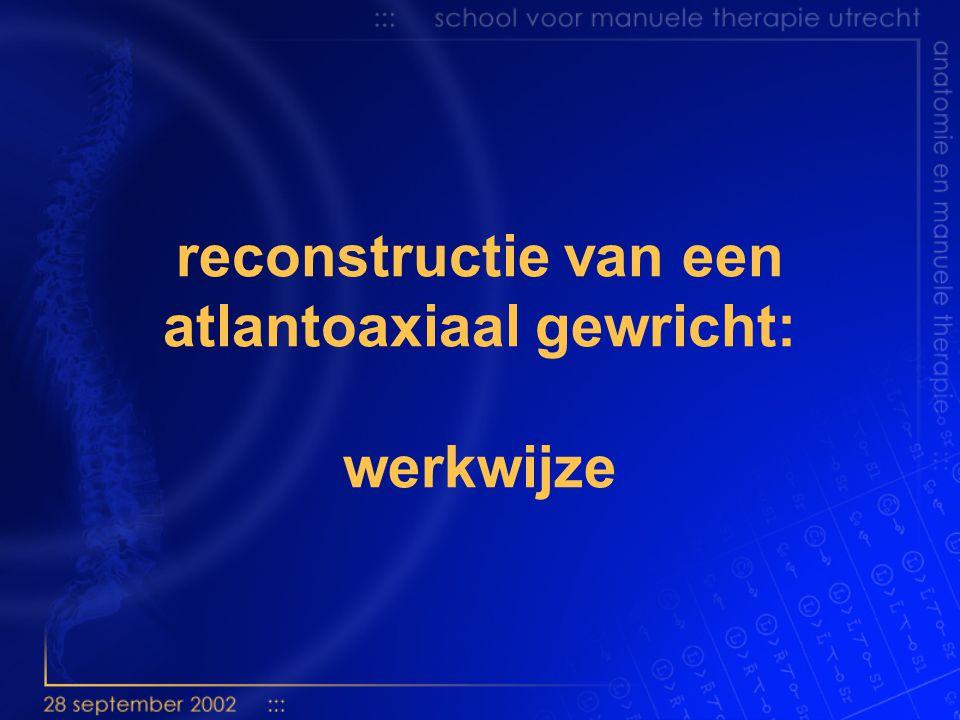 reconstructie van een atlantoaxiaal gewricht: werkwijze