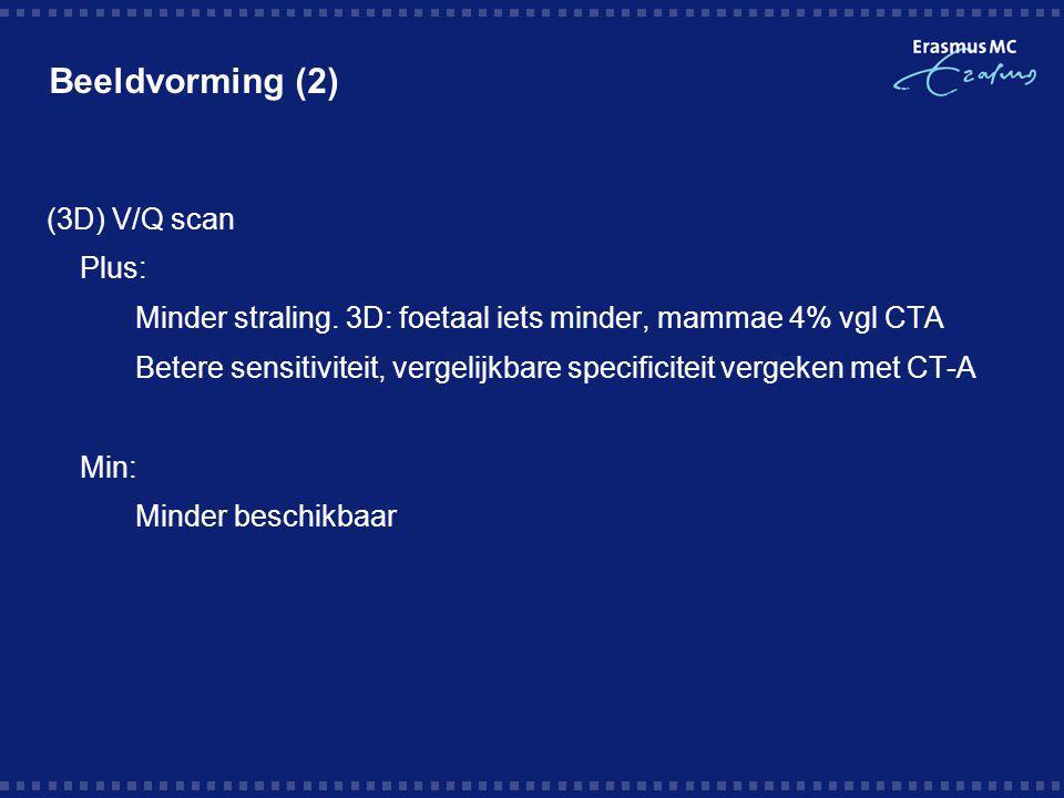 Beeldvorming (2) (3D) V/Q scan Plus: