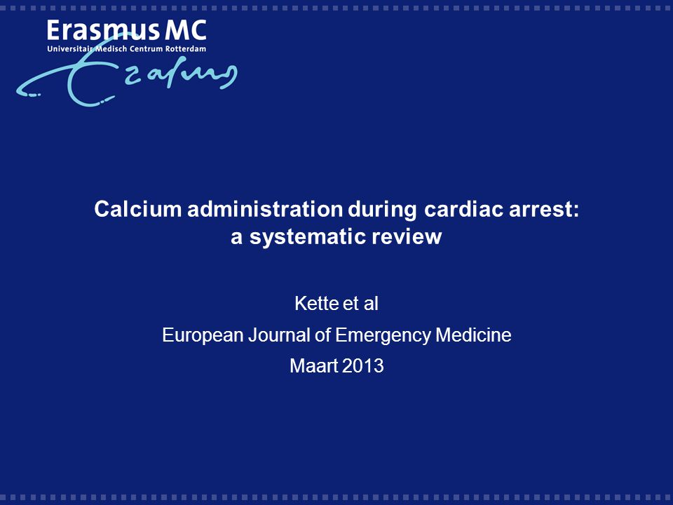 Calcium administration during cardiac arrest: a systematic review