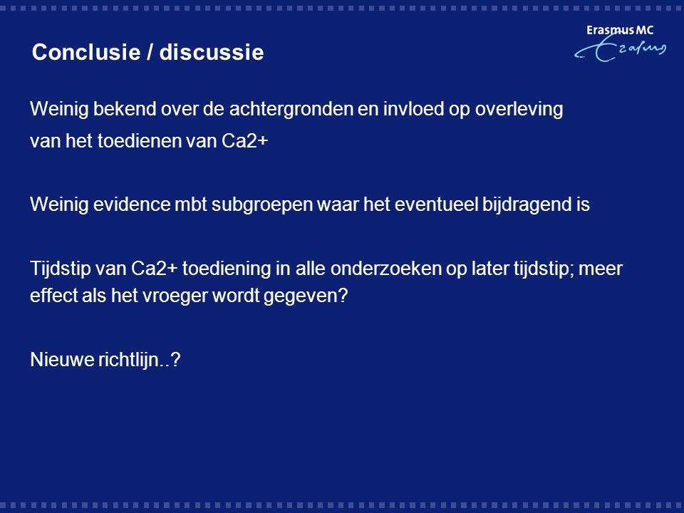 Conclusie / discussie