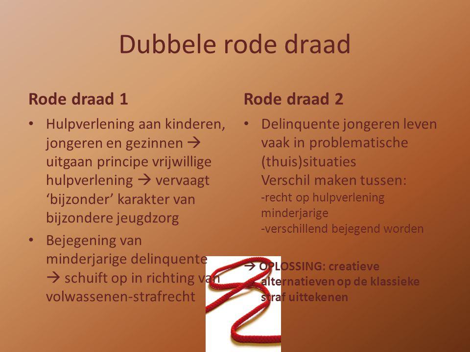 Dubbele rode draad Rode draad 1 Rode draad 2