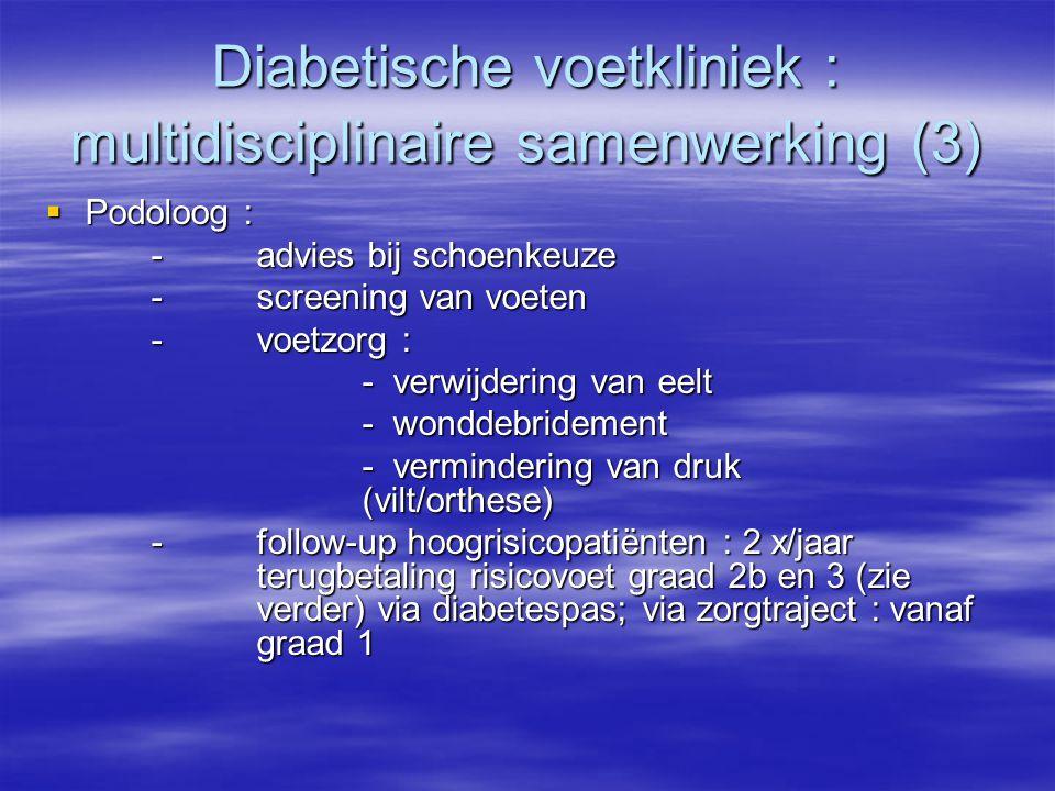 Diabetische voetkliniek : multidisciplinaire samenwerking (3)