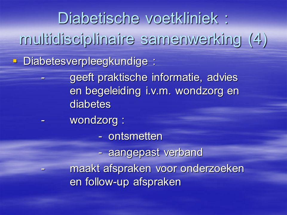 Diabetische voetkliniek : multidisciplinaire samenwerking (4)