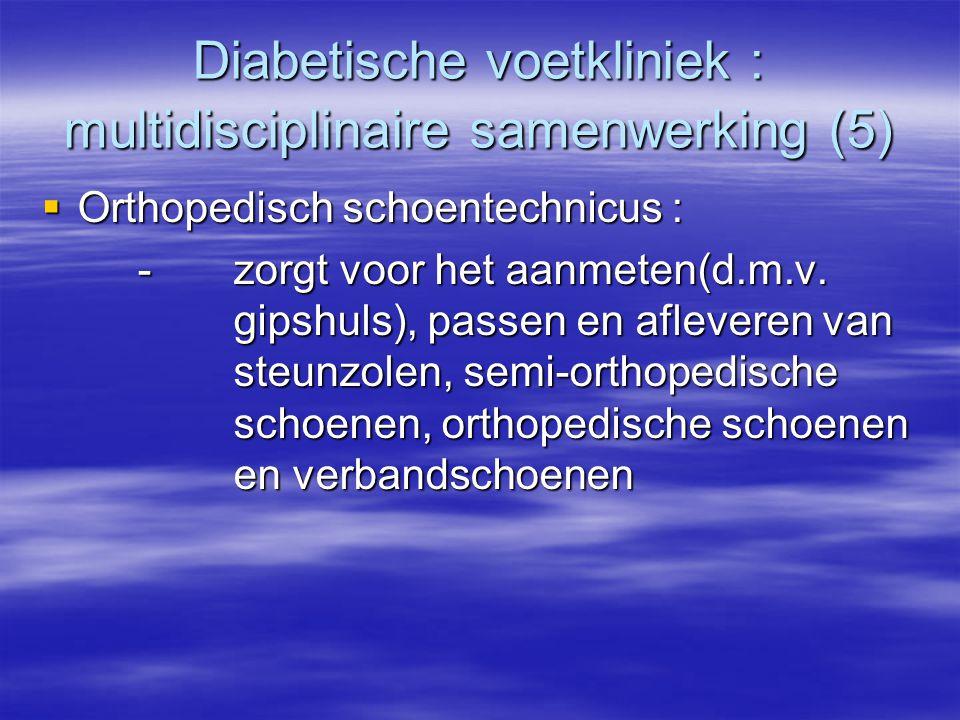 Diabetische voetkliniek : multidisciplinaire samenwerking (5)