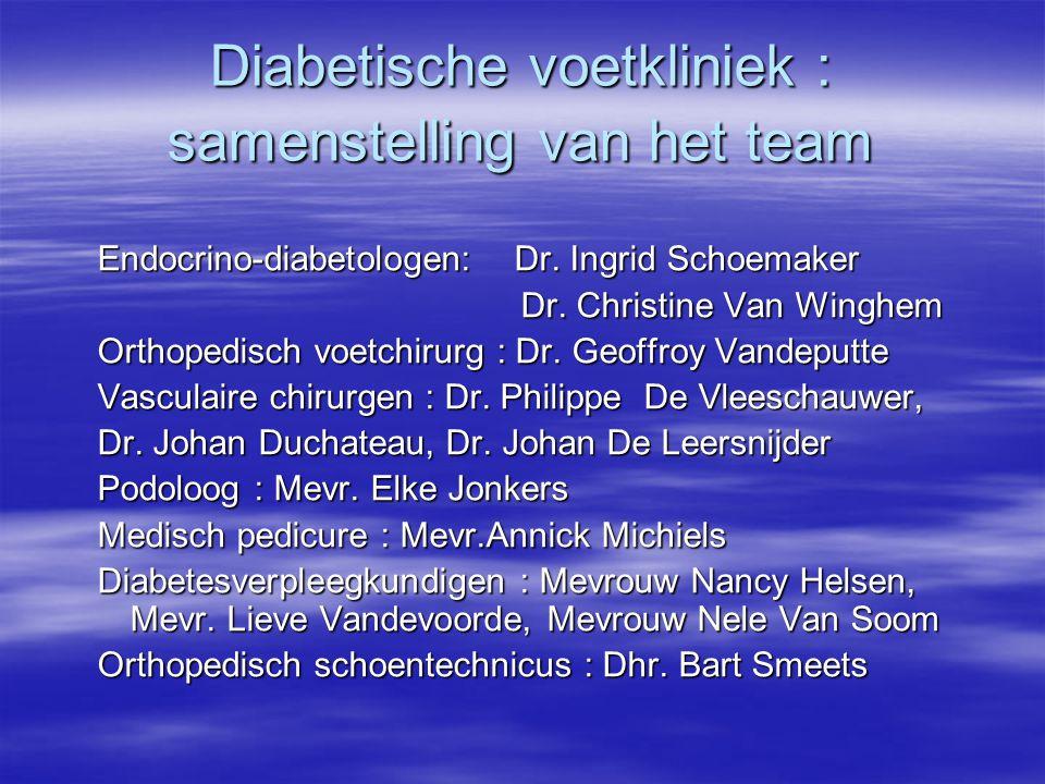 Diabetische voetkliniek : samenstelling van het team