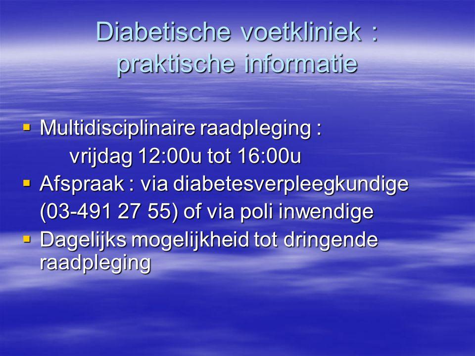 Diabetische voetkliniek : praktische informatie