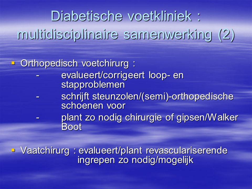 Diabetische voetkliniek : multidisciplinaire samenwerking (2)