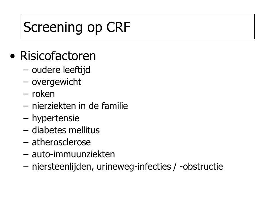 Screening op CRF Risicofactoren oudere leeftijd overgewicht roken