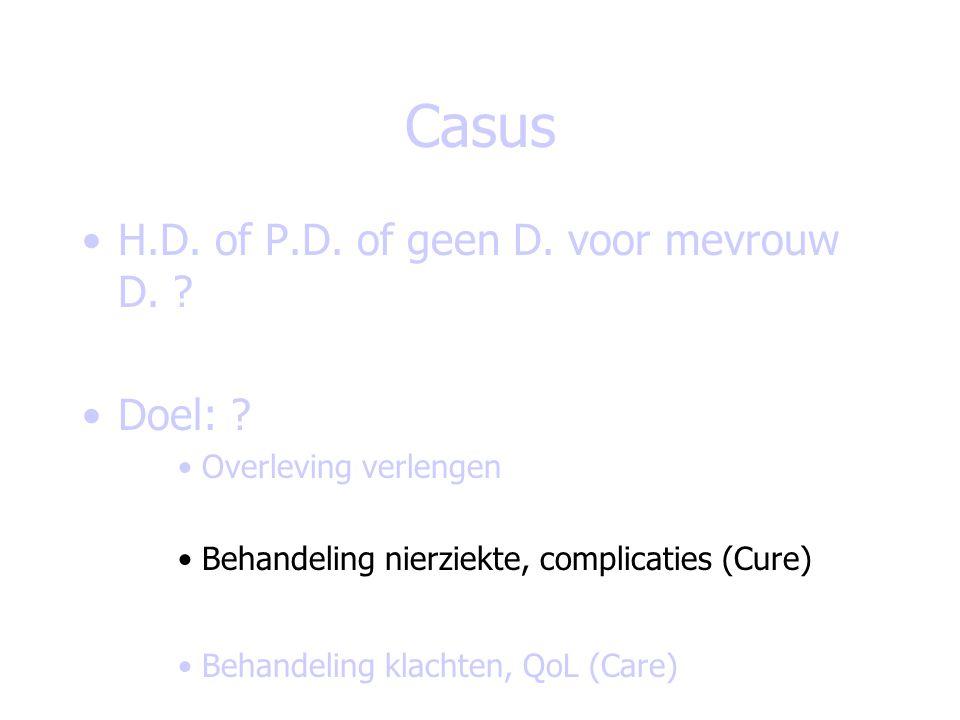 Casus H.D. of P.D. of geen D. voor mevrouw D. Doel: