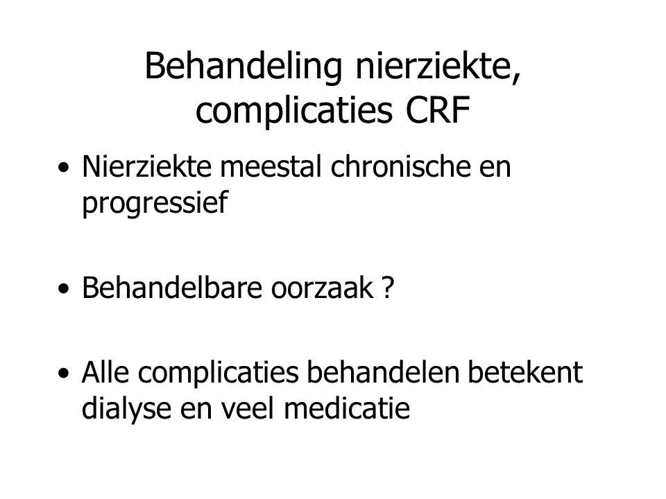 Behandeling nierziekte, complicaties CRF
