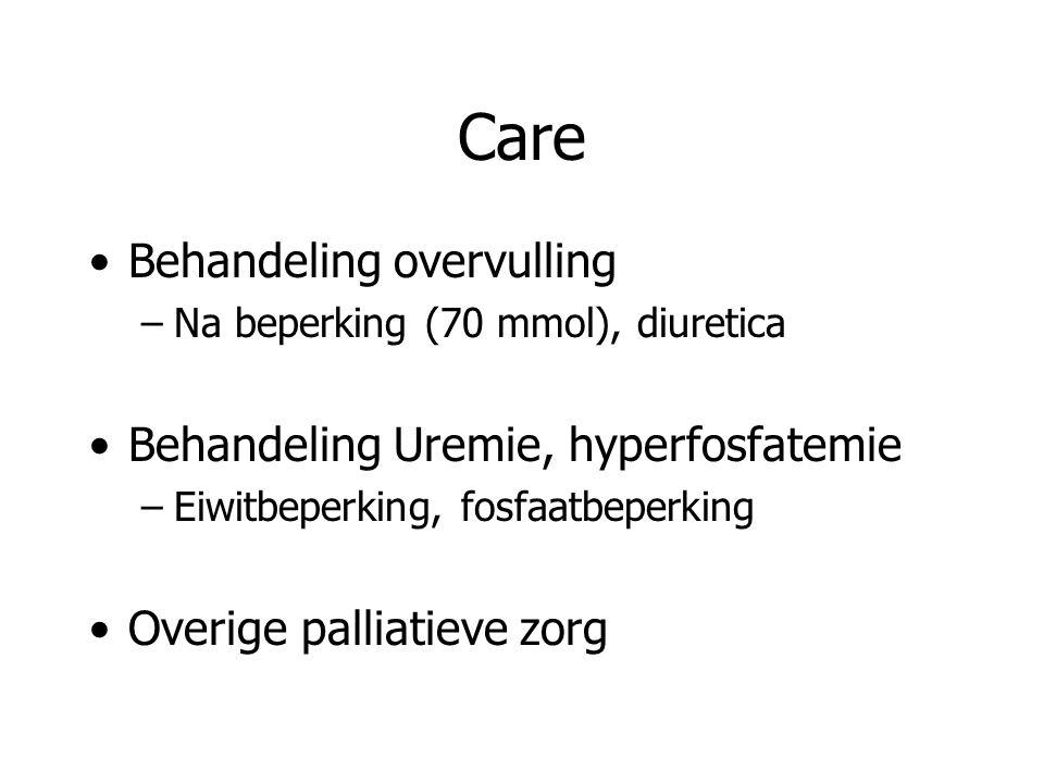 Care Behandeling overvulling Behandeling Uremie, hyperfosfatemie