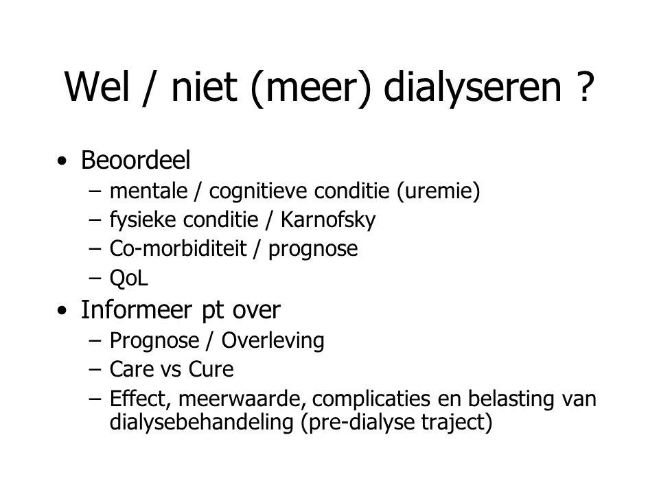 Wel / niet (meer) dialyseren