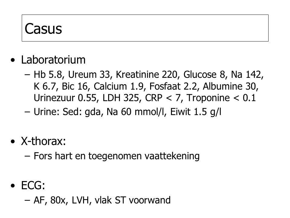Casus Laboratorium X-thorax: ECG: