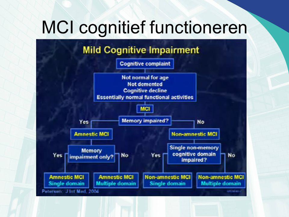 MCI cognitief functioneren