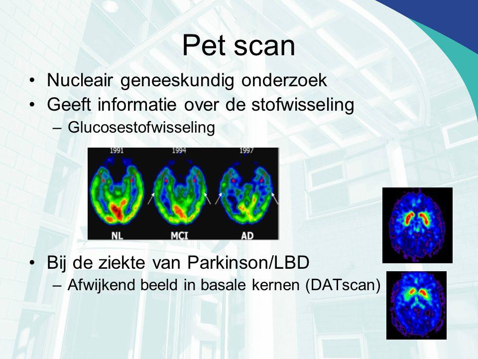 Pet scan Nucleair geneeskundig onderzoek