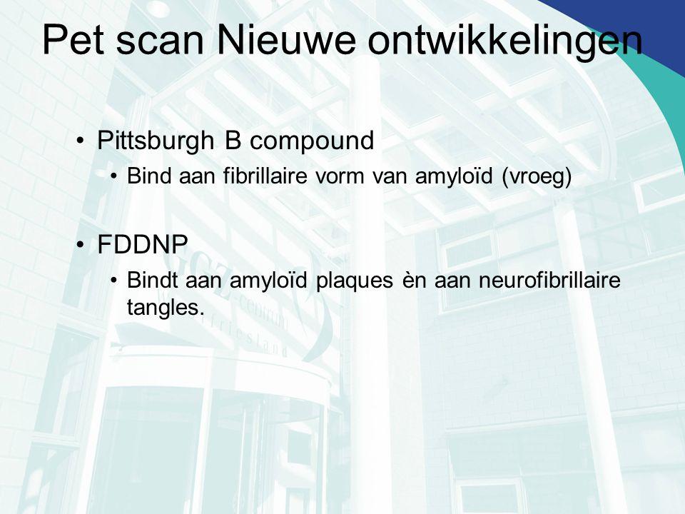 Pet scan Nieuwe ontwikkelingen
