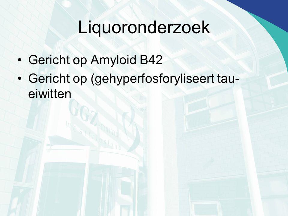 Liquoronderzoek Gericht op Amyloid B42