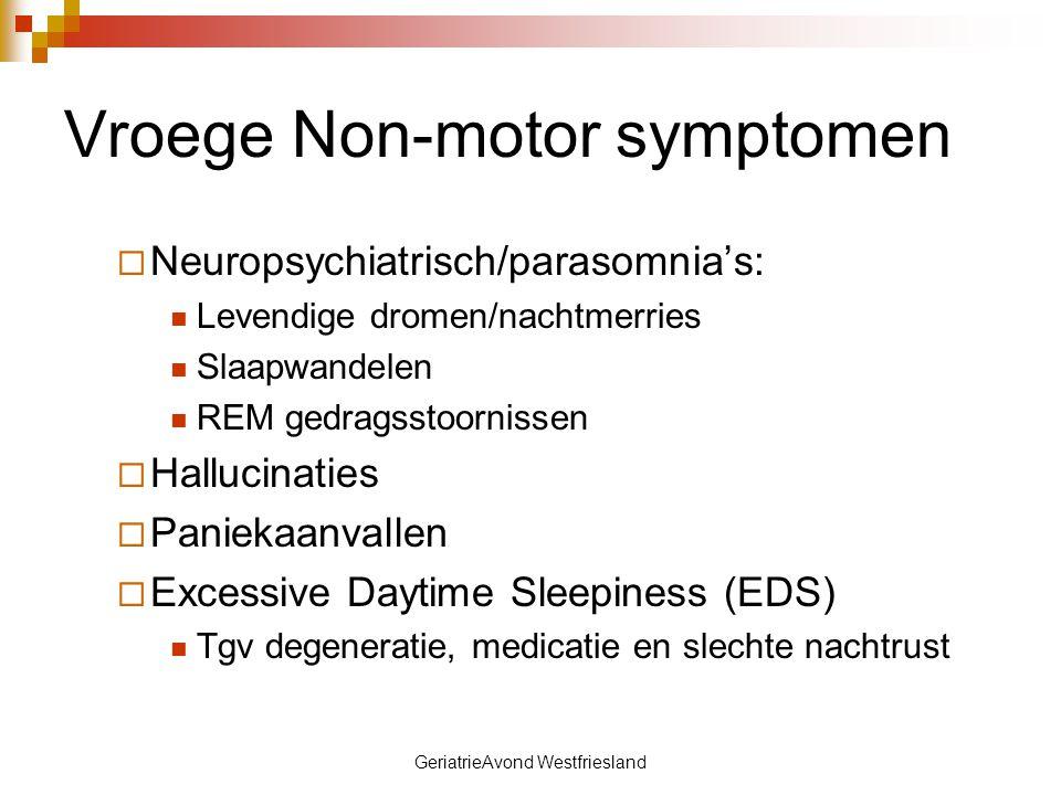Vroege Non-motor symptomen